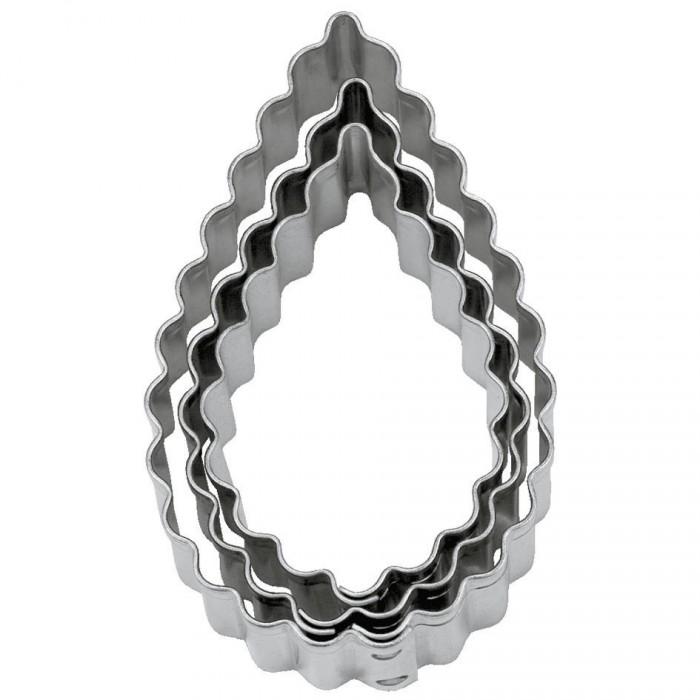 Tagliapasta a goccia ondulata in metallo