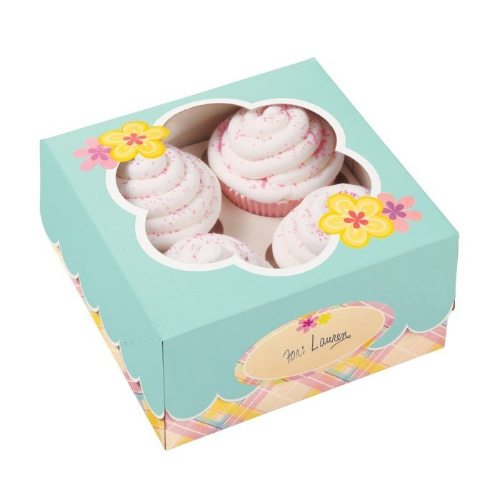 Set scatole quadrate per cupcake e biscotti