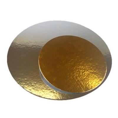Vassoio rotondo argento/oro