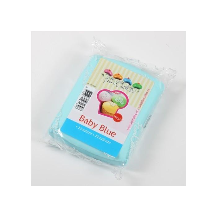 Pasta di zucchero FunCakes colorata - azzurro baby