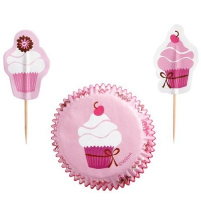 Pirottini celebration per cupcake e muffin - pink party