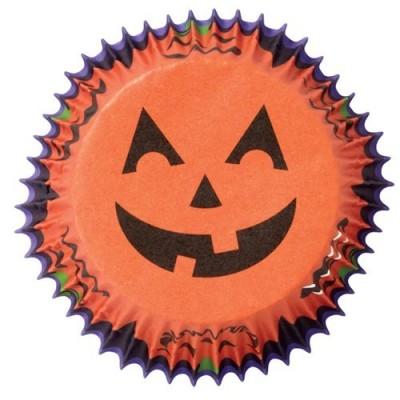 Pirottini Halloween per cupcake e muffin - zucca