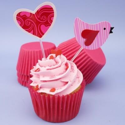 Pirottini alta qualità per cupcake - cerise