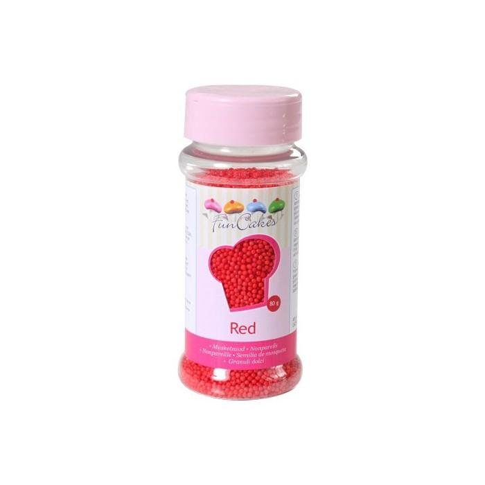 Mini perle di zucchero FunCakes - rosso