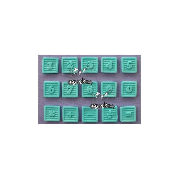 Stampo in silicone numeri baby cubi