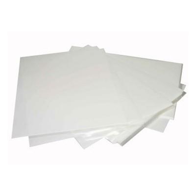 Set 5 fogli in ostia sottile bianchi
