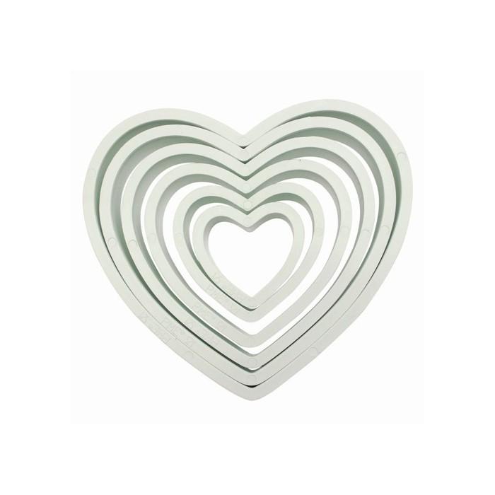 Set n. 6 tagliapasta cuore Pme