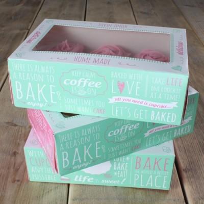 Set 3 scatole per cupcake - quotes