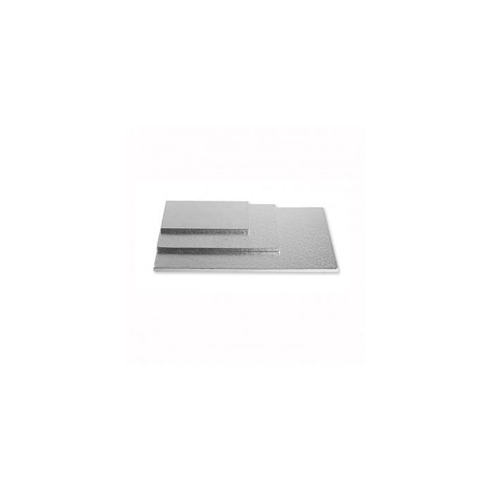 Vassoio rettangolare argento (1 cm)