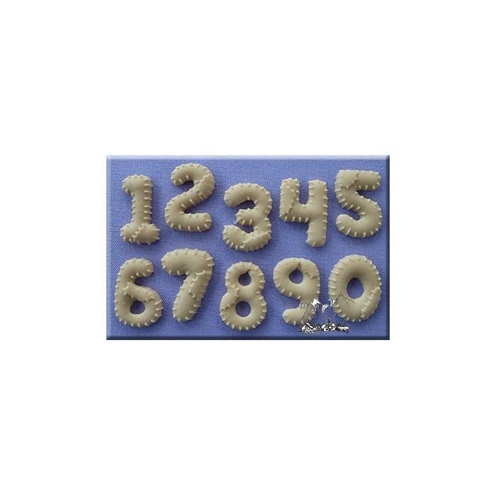 Stampo in silicone numeri Patchwork