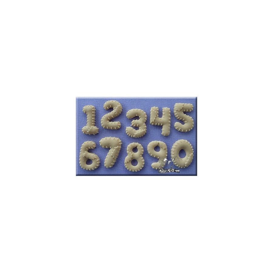 Stampo In Silicone Numeri Patchwork Decorazioni Dolci