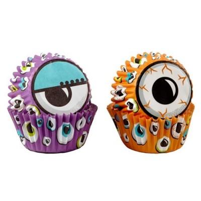 Mini pirottini Halloween per cupcake e muffin - occhi