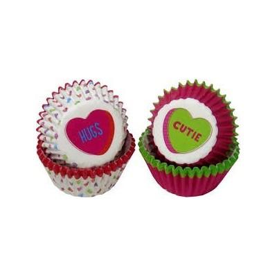 Mini pirottini per cupcake San Valentino - cuore
