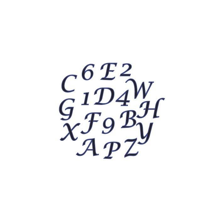 Tagliapasta alfabeto corsivo minuscolo