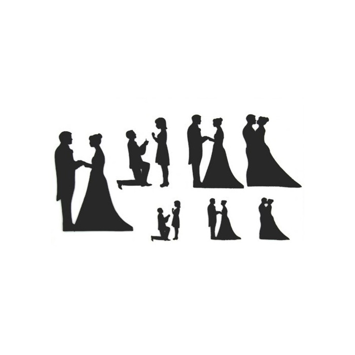 Tagliapasta silhouette matrimonio