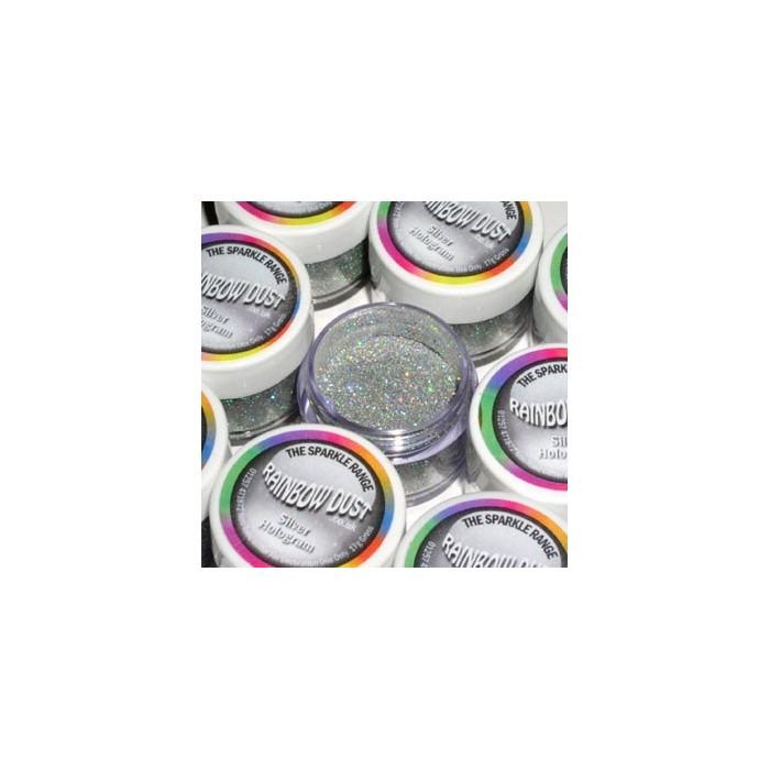 Polvere glitter Rainbow Dust - splarkle hologram - argento