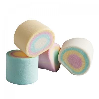 Marshmallow a tubo multicolore