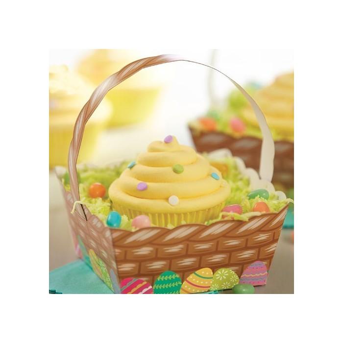 Scatole cestino porta cupcake e biscotti per Pasqua