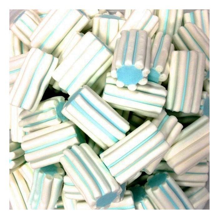 Marshmallow striato bianco azzurro