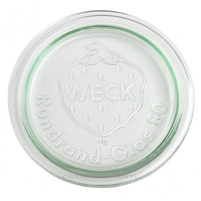 Coperchio in vetro per vasetti Weck - 8 cm