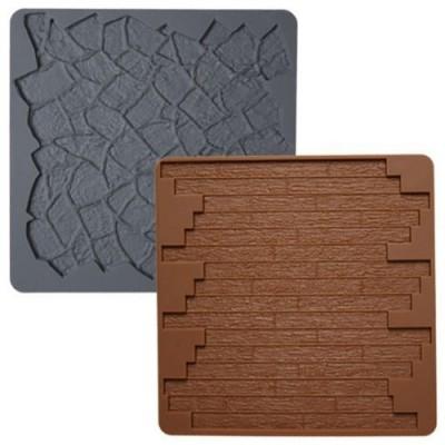 Tappetino impressione pietra e assi di legno
