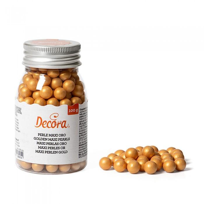 Maxi perle di zucchero Decora - oro