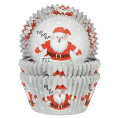 Pirottini natalizi per cupcake e muffin - babbo natale