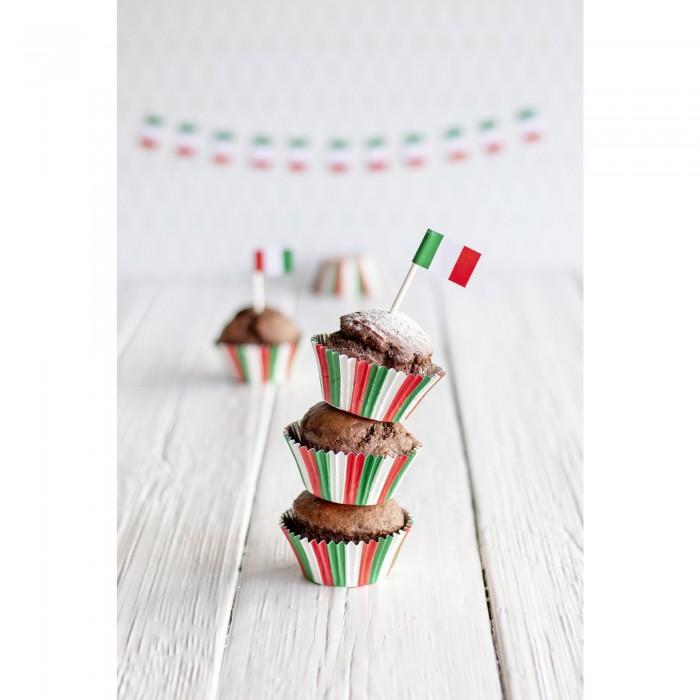 Pirottini tricolore per cupcake e muffin