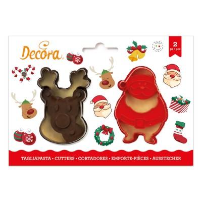 Set tagliapasta renna e Babbo Natale