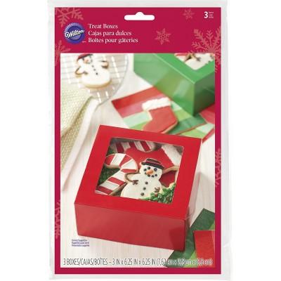 Set scatole natalizie quadrate per biscotti e dolcetti