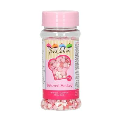 Mix zuccherini cuori e perline