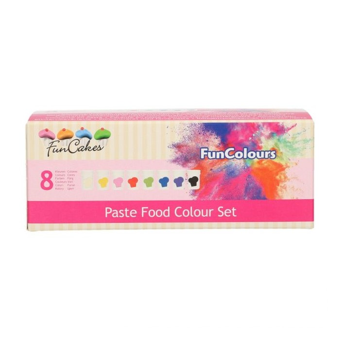 Set 8 coloranti alimentari in pasta