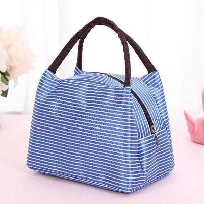Mini borsa termica con zip - blu