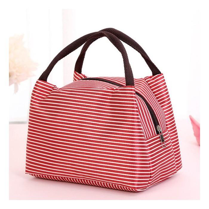 Mini borsa termica con zip - rossa