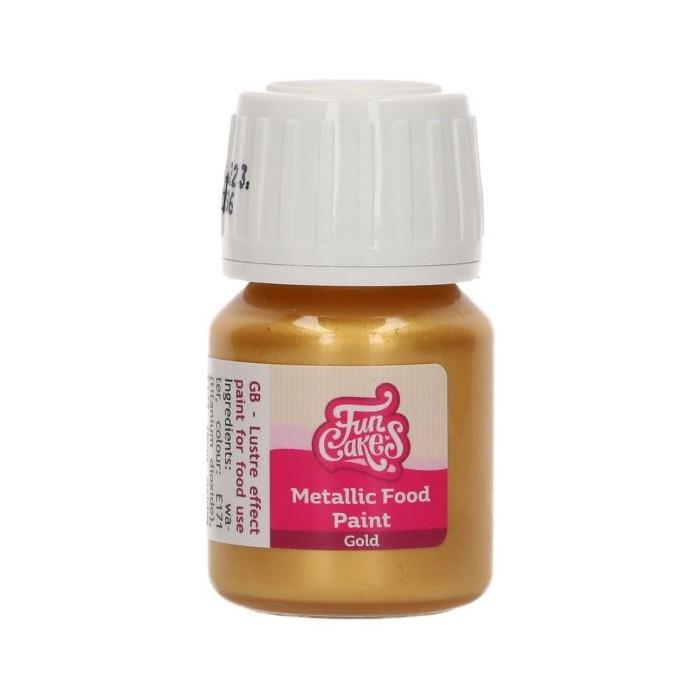 Colorante alimentare metallizzato Funcakes - oro