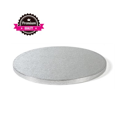 Vassoio rotondo argento (1 cm)