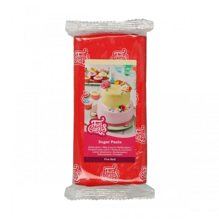 Pasta di zucchero FunCakes colorata - rosso
