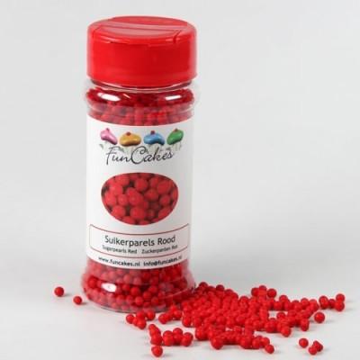 Perle di zucchero FunCakes rosso