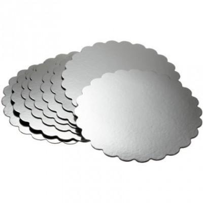 Vassoio rotondo argento smerlato Wilton
