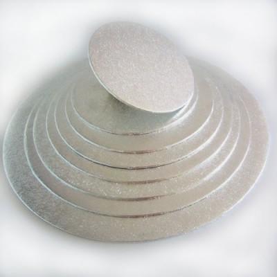 Vassoio rotondo argento (4 mm)