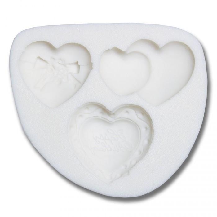 Stampo in silicone a 3 cuori