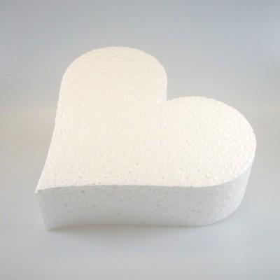 Base in polistirolo a forma di cuore