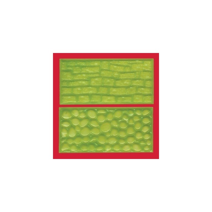 Tappetino impressione ciotoli e muro di pietra