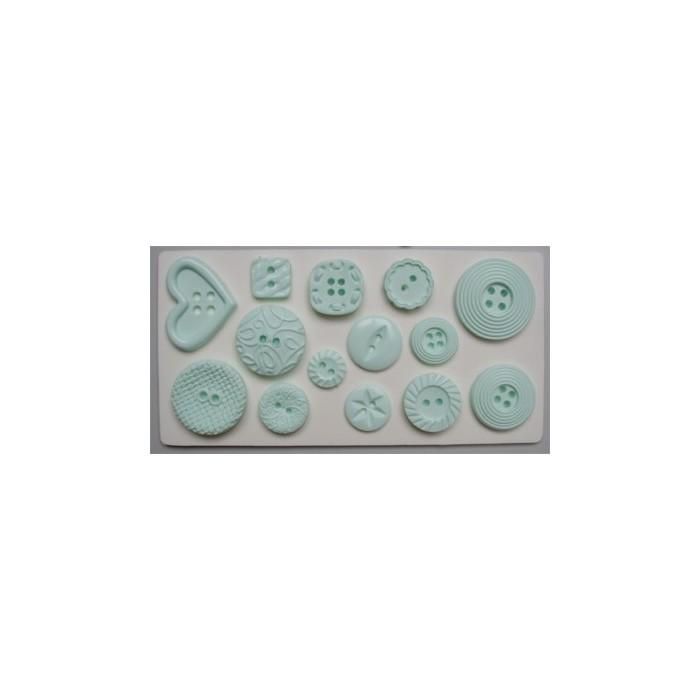 Stampo in silicone bottoni decorati