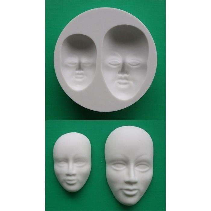 Stampo in silicone per viso