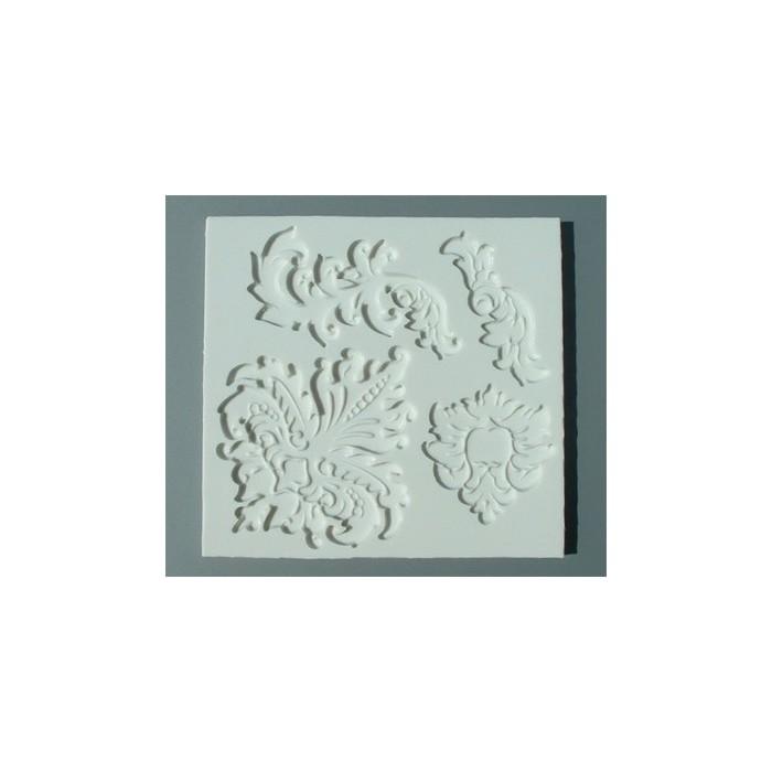 Stampo In Silicone Con Decoro Barocco Decorazioni Dolci