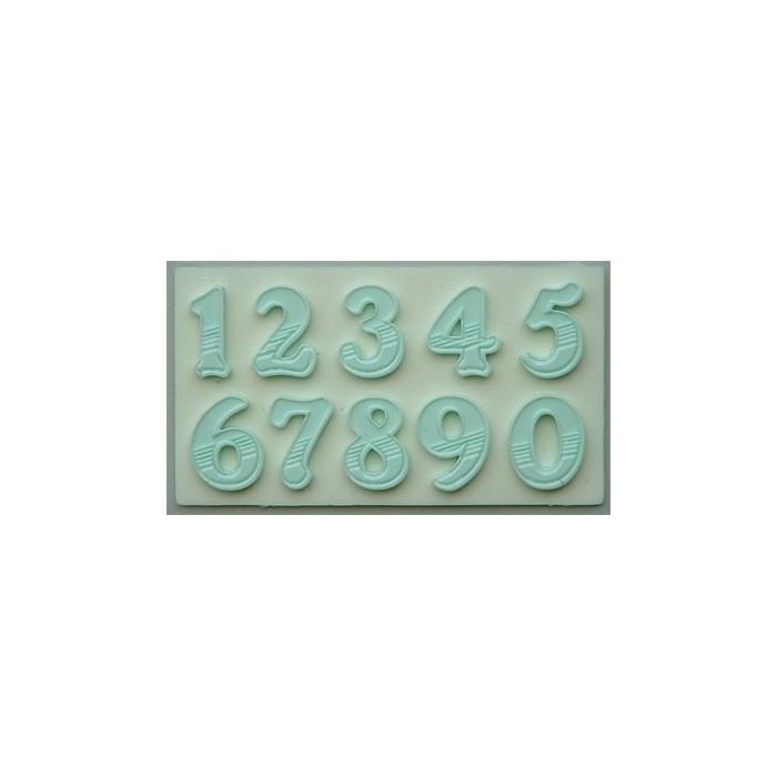 Stampo in silicone numeri a riempimento sfumato