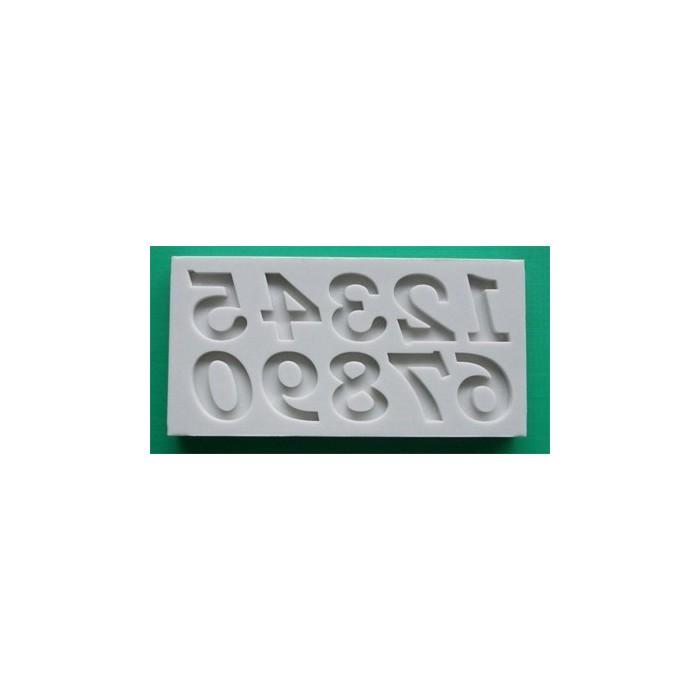 Stampo in silicone numeri bookman old style