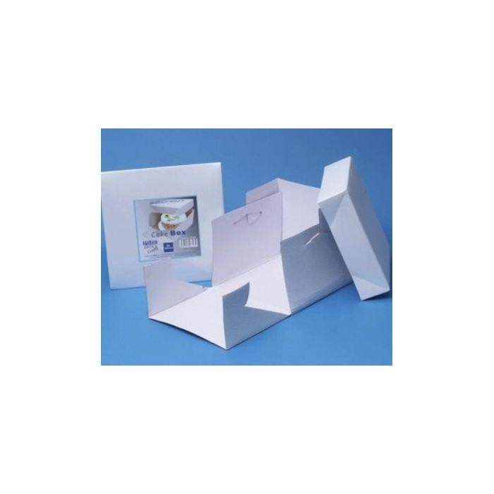 Scatola quadrata portatorta bianca