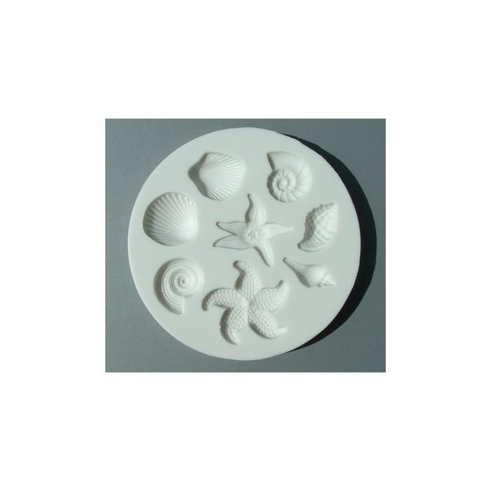 Stampo in silicone conchiglie e stelle marine